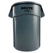 Newell Rubbermaid Brute Vented Trash Receptacle, Round, 44 gal, Gray, 4/CT, #RCP264360GY