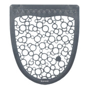 Boardwalk Urinal Mat 2.0, Rubber, 17 1/2 x 20, Gray/White, 6/CT, #BWKUMGW