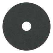 "Boardwalk Standard Floor Pads, 17"" Diameter, Black, 5/CT, #BWK4017BLA"