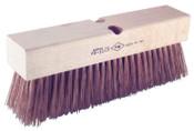 Ampco Safety Tools Round Wire Push Brooms, 12 in Block, 2 1/2in Trim L, Copper Alloy Bristle, 1/EA, #PB10