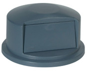 Newell Rubbermaid Brute Dome Tops, For 32 Gal. Brute Round Containers, 22 11/16 in, 1/EA, #263788GRAY