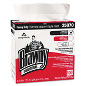 Georgia-Pacific Brawny Medium Weight HEF Shop Towels, 9 1/8 x 16 1/2, 5/CA, #GPC25070CT