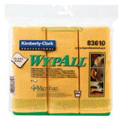 Kimberly-Clark Professional WypAll Microfiber Cloths, Yellow, 4/CA, #83610