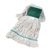 Boardwalk Super Loop Wet Mop Head, Cotton/Synthetic, Medium Size, White, 12/EA, #BWK502WHEA