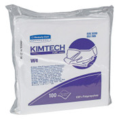 Kimberly-Clark Professional KIMTECH W4 Critical Task Wipers, Flat Double Bag, 12x12, White, 5/CA, #33330
