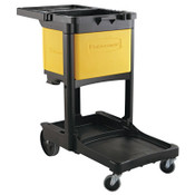 RUBBERMAID COMMERCIAL PROD. Locking Cabinet, For Rubbermaid Commercial Cleaning Carts, Yellow, 1/EA, #618100YEL