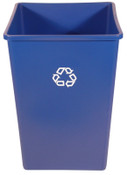 Newell Rubbermaid Recycling Containers, 35 gal, Blue, 1/EA, #395873BLUE