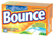 Procter & Gamble Bounce Fabric Softener Sheets, Outdoor Fresh, 6/CA, #PGC80168CT