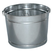 Magnolia Brush 5QT GALVANIZED METAL PAIL, 12/EA, #5PAINTPAIL