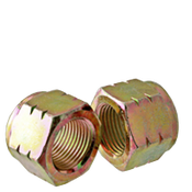 "3/8""-24 Nylon-Insert Locknut, Grade C, Zinc-Yellow (100/Pkg.)"