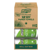 MARCAL PAPER 100% Recycled Roll Towels, 5 1/2 x 11, 140 Sheets, 12/CT, #MRC6183