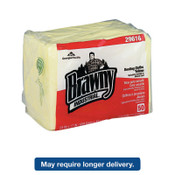 Georgia-Pacific Brawny Industrial Dusting Cloths Quarterfold, 17 x 24, Yellow, 50/Pack, 200/CT, #GPC29616