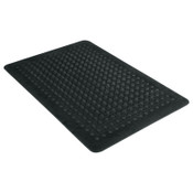 MILLENNIUM MAT COMPANY Flex Step Rubber Anti-Fatigue Mat, Polypropylene, 24 x 36, Black, 1/EA, #MLL24020300