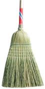 Magnolia Brush Heavy-Duty Contractor Brooms, 19 in Trim L, Broom Corn; Palmyra Stalk, 6/EA, #5038BUNDLED