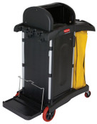 Newell Rubbermaid BLACK HIGH SECURITY JANITOR CART, 1/EA, #9T7500BLA