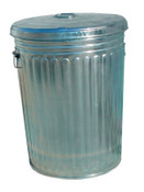 Magnolia Brush Pre-Galvanized Trash Can With Lid, 30 gal, Galvanized Steel, Gray, 1/EA, #TRASHCAN30GAL