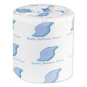 General Liners 2-Ply Bath Tissue Rolls, 4.5 in L x 3.8 in W Per Sheet, Standard Size, 1/CA, #GEN500