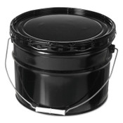 Freund Unlined Open Head Steel Pail, 3 1/2 Gallon, Lug Cap, Black, 1/EA, #11754451