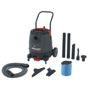 Ridge Tool Company Motor-On-Bottom Wet/Dry Vac Model 1650RV, 16 gal, 6.5 hp, 1/EA, #50338