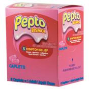 Pepto Bismol Tablets, Two-Pack, 25 Per Box, #PFYBXPB25