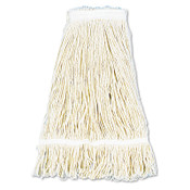 Boardwalk Pro Loop Web/Tailband Wet Mop Head, Cotton, 24oz, White, 12/CT, #BWK424CCT