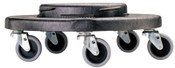 Newell Rubbermaid Brute Dollies, Fits 2620; 2632; 2643; 2655, 18 1/4 in, 1/EA, #264000BLA
