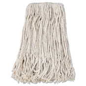 Boardwalk Banded Cotton Mop Head, #24, White, 12/CT, #BWKCM02024S