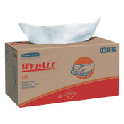 Kimberly-Clark Professional WypAll L30 Wipers, Pop-Up Box, White, 10/CS, #3086