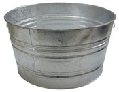 Magnolia Brush 73.97-QT. GALVANIZED TUB, 6/EA, #3tub