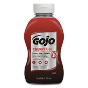Gojo Cherry Gel Pumice Hand Cleaners, Cherry, Squeeze Bottle, 10 oz, 1/EA, #235408