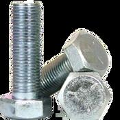 """1/4""""-28x1/2"""" Fully Threaded Hex Cap Screws Grade 5 Fine Med. Carbon Zinc CR+3 (100/Pkg.)"""