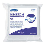 Kimberly-Clark Professional Kimtech Pure CL4 Critical Task Wipers, Flat/Anti-Stat Dbl Bag, White, 500/CA, #33390
