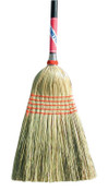 Magnolia Brush Janitor Corn Broom, 56-1/2 in Overall L, Black Lacquered Handle, 1/EA, #5026BUNDLED