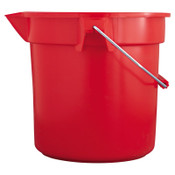 "Newell Rubbermaid 10 QT BRUTE BUCKET ROUND 10-1/2"" DIA, 1/EA, #296300RED"