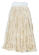 Boardwalk Cut-End Wet Mop Heads, Premium Standard Head, 24 oz, Rayon; Polyester Headband, 12/CA, #BWK224RCT