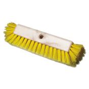 Boardwalk Dual-Surface Scrub Brush, Plastic Fill, 10 in Long, Yellow, 1/EA, #BWK3410