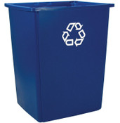 Newell Rubbermaid Glutton Recycling Containers, 56 gal, Blue, 4/EA, #256B73BLUE