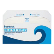 Boardwalk Premium Half-Fold Toilet Seat Covers, 250 Covers/Sleeve, 1/CT, #BWKK2500