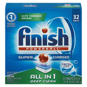 Reckitt Benckiser Powerball Dishwasher Tabs, Fresh Scent, 8/CT, #RAC81049CT