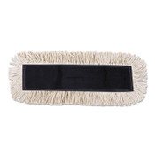 Boardwalk Disposable Dust Mop Head w/Sewn Center Fringe, Cotton/Synthetic, 36w x 5d, White, 1/EA, #BWK1636
