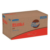 Kimberly-Clark Professional WypAll L10 Utility Wipes, POP-UP Box, 1Ply, 9 x 10 1/2, White, 125/Box, 18/CS, #5320