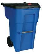 Newell Rubbermaid Brute Roll Out Containers, 65 gal, Blue, 1/EA, #9W2173BLUE
