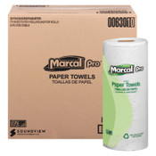 MARCAL PRO 100% Premium Recycled Towels, 2-Ply, 11 x 9, White, 70/Roll, 30/CT, #MRC630
