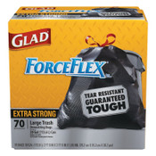 Clorox Dual Defense Drawstring Large Trash Bags, 30 gal, Black, 1/CT, #CLO70358