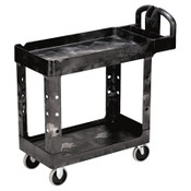 RUBBERMAID COMMERCIAL PROD. Heavy-Duty Utility Cart, Two-Shelf, 17-1/8w x 38-1/2d x 38-7/8h, Black, 1/EA, #RCP450088BK