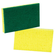 3M Medium-Duty Scrubbing Sponge, 3 1/2 x 6 1/4, Yellow/Green, 20/CT, #MMM74