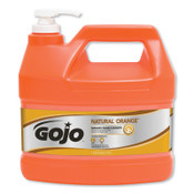 Gojo Natural Orange Smooth Hand Cleaners, Citrus, Bottle w/Pump, 1 gal, 4/BTL, #94504