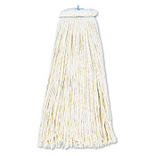 Boardwalk Cut-End Lie-Flat Wet Mop Head, Cotton, 16oz, White, 1/EA, #BWK716CEA