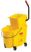 Newell Rubbermaid WaveBrake Bucket/Wringer Combination Pack, 35 qt, Yellow, 1/EA, #758088YEL