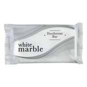 TRANSMACRO AMENITIES Individually Wrapped Deodorant Bar Soap, White, 1.5oz Bar, 1/CT, #DIA00194A